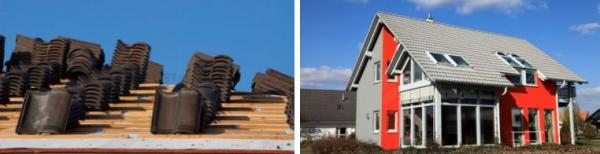 Ilustrační foto (www.shutterstock.com), různé typy betonové krytiny