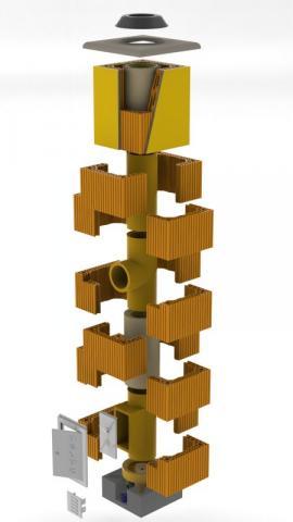 Obr: HELUZ, kompletní komínová stavebnice