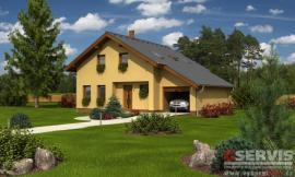Obr: G SERVIS CZ, projekt typového rodinného domu Efekt Plus