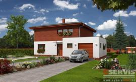 Obr: G SERVIS CZ, projekt typového rodinného domu Excelent