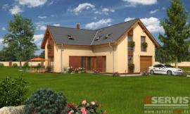 Obr: G SERVIS CZ, projekt typového rodinného domu Flash