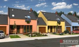 Obr: G SERVIS CZ, projekt typového rodinného domu Linea - citlivá řadová zástavba