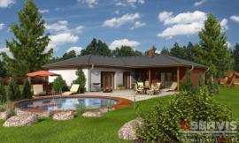 Obr: G SERVIS CZ, projekt typového rodinného domu Luna 2
