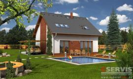 Obr: G SERVIS CZ, projekt typového rodinného domu Lyra