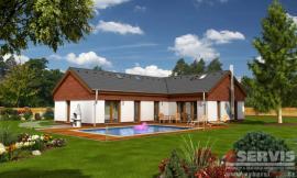 Obr: G SERVIS CZ, projekt typového rodinného domu Magic