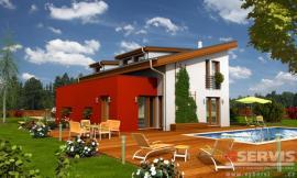 Obr: G SERVIS CZ, projekt typového rodinného domu Medium