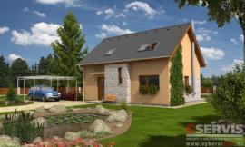 Obr: G SERVIS CZ, projekt typového rodinného domu Start