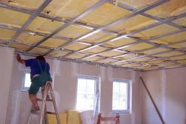 Zateplení stropu minerální izolací