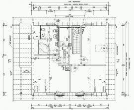 Půdorys našeho domu Nova 78 - první patro