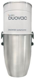 Centrální vysavač DUOVAC Symphonia 180 I - sada BW, LV
