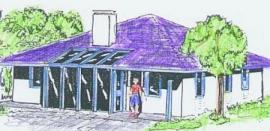 ARNET, typový dům v Táboře - 3D nákres
