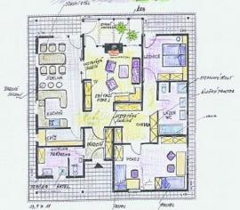 ARNET, typový dům v Táboře - přízemí