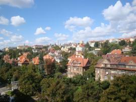 Foto: www.luxusni-mezonety.cz, výhled z oken na Prahu
