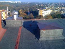 Nevhodné řešení 1xLomanco BIB 14 průměr 356mm; odvětrání kanalizace není vyvedeno bokem
