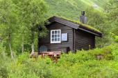Ilustrační foto (www.shutterstock.com), zelená šikmá střecha - tradiční norský styl