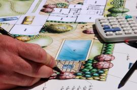 Ilustrační obr (www.shutterstock.com), počítačový 2D návrh zahrady - barvení půdorysu