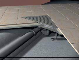 Foto: www.alcaplast.cz, rohový podlahový žlab