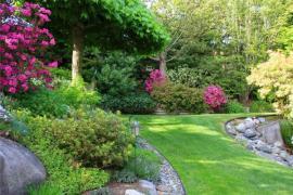 Ilustrační foto (www.shutterstock.com), řešení svahu v zahradě rostlinami a kameny