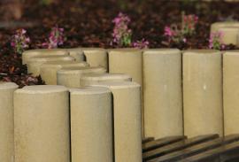 Foto: CS BETON, betonové palisády se vzhledem dřeva