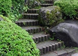 Ilustrační foto (www.shutterstock.com), kombinace dřevěných palisád a betonu (palisády mohou být i betonové, dřevoplastové a plastové)