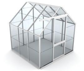Ilustrační obr (www.shutterstock.com), hliníková konstrukce skleníku, 3D model