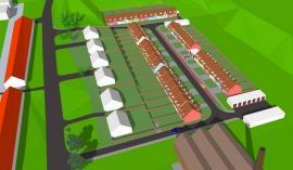 Foto: Domy Tvarožná, 3D model budoucí lokality