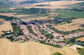 Letecký snímek obce