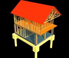 Obr: www.domoja-cz.com, vizualizace - zastřešená dřevostavba