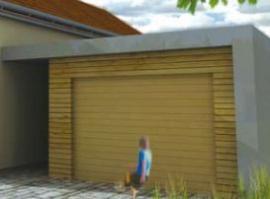 Ukázka garáže k domům LOCUS