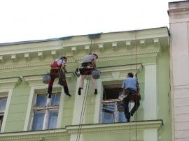 Foto: Miroslav Jelínek, práce na laně