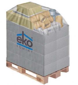 Obr: EKO KOMÍNY, dodávka na europaletě