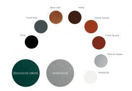 Vzorky barev LindabRainline
