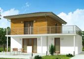 Obr: Ekonomické stavby, vizualizace typového domu