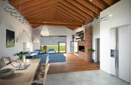 Obr: NICE WOOD, plovoucí podlaha a keramická dlažba