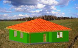 Obr: STAVEX, typový bungalov Gama