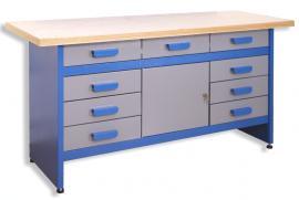 Foto: ENPRAG, dílenský stůl se zásuvkami a skříňkou GSW 09