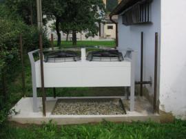Obr: KOSTEČKA GROUP, venkovní jednotka čerpadla vzduch - voda