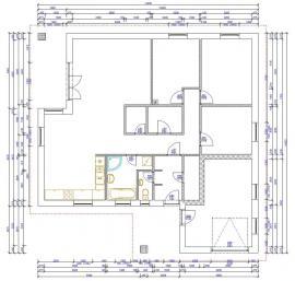 Půdorys typového domu EDMONTON 100 VNG