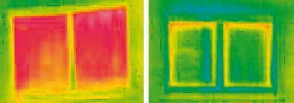Foto: Alu.plast, ukázky snímků termokamerou, vpravo je okno ENERGETO