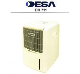 Domácí odvlhčovač, vysoušeč vzduchu DH 711, určený i do provozů