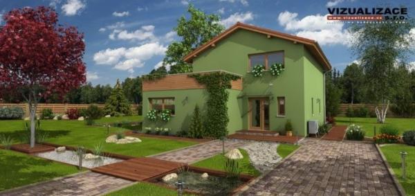 Vizualizace: Regulus, pasivní dům typu G-Servis Picasso