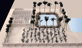 Foto: Michael Haase, model egyptské zahrady