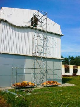 Stavba zkušebního objektu pro požární test