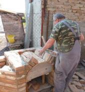 Dřevěné kopyto vytvářející tvar klenby