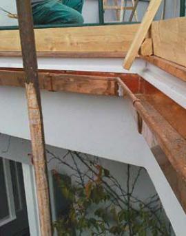 Nově aplikovaná vrstva betonu s hydroizolační vrstvou