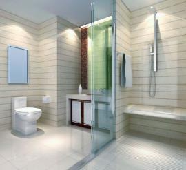 Ilustrační foto (www.shutterstock.com), bezpečně osvětlená koupelna