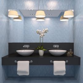 Ilustrační foto (www.shutterstock.com), závěsná svítidla nad koupelnovým zrcadlem