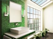 Ilustrační foto (www.shutterstock.com), pokud si můžeme dovolit velké prosklené plochy, proč ne, i tak se ale koupelna bez svítidel neobejde