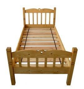 Foto: UNIS-N, dřevěná jednolůžková postel