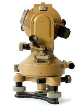 Ilustrační foto (www.shutterstock.com), starý zeměměřičský přístroj